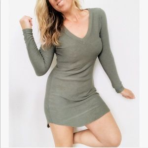 CHASER keeping it chill shift dress OLIVE